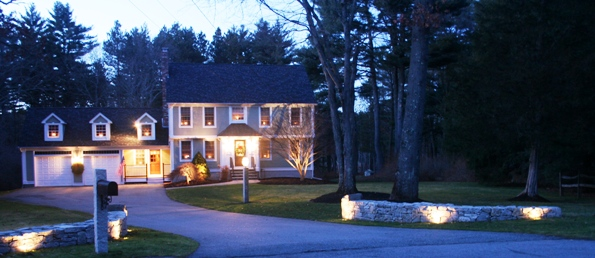 Custom landscape lighting design for your north andover andover or salem nh property